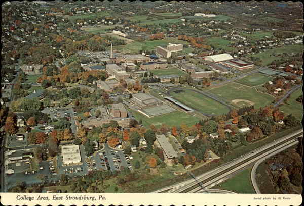 Aerial View of College Area East Stroudsburg Pennsylvania