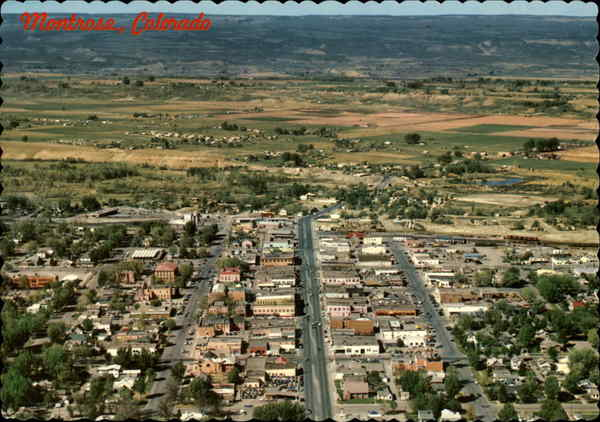 Air view of Montrose Colorado