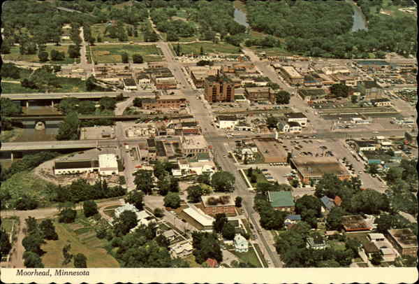 Aerial View of the City Moorhead Minnesota