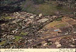 Aerial of Manoa Valley and University of Hawaii Postcard