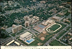 Aerial view of the University of Tennessee Complex