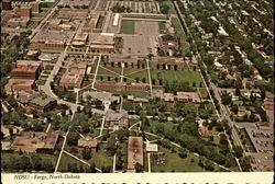 "Aerial View North Dakota State University, ""Home of the Bison"""