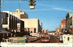 2nd Ave., Fairbanks, Alaska Postcard