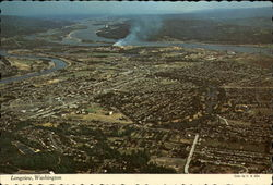 Aerial View, Longview Postcard