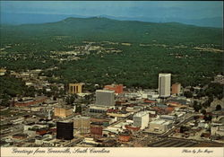 Bird's Eye view of Greenville Postcard