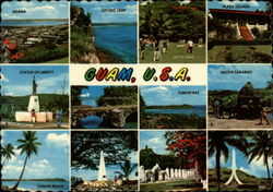 Bird's-Eye View of Agana and other views