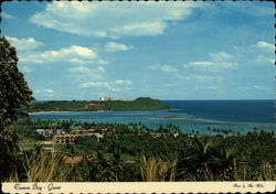 Panoramic view of Tumon Bay Postcard
