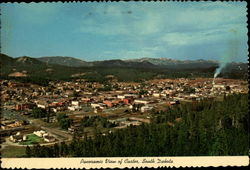 Panoramic View of Custer, South Dakota Postcard