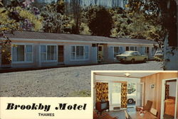 Brookby Motel Postcard