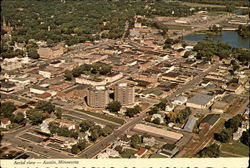 Aerial View of county Seat of Mower County