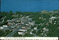Aerial view of Walker, Minnesota