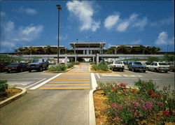Guam International Terminal Parking and Entrance Postcard