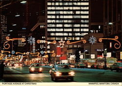 Portage Avenue at Christmas