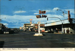 Mile 0, Alaska Highway Postcard