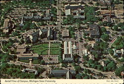 Aerial view of campus, Michigan State University