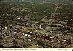Aerial view of Spartanburg