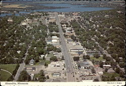 "Aerial View of Alexandria, Minn: ""Birthplace of America"" Postcard"