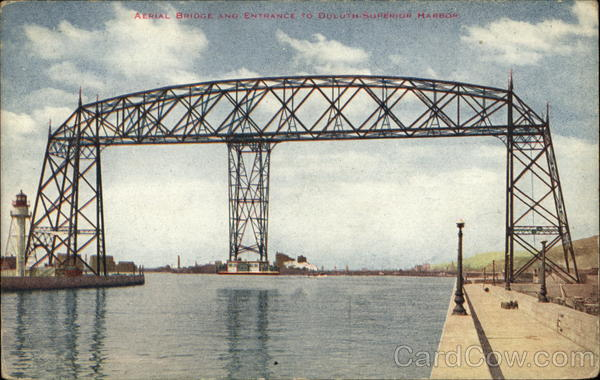Aerial Bridge and Entrance to Duluth Superior Harbor Minnesota