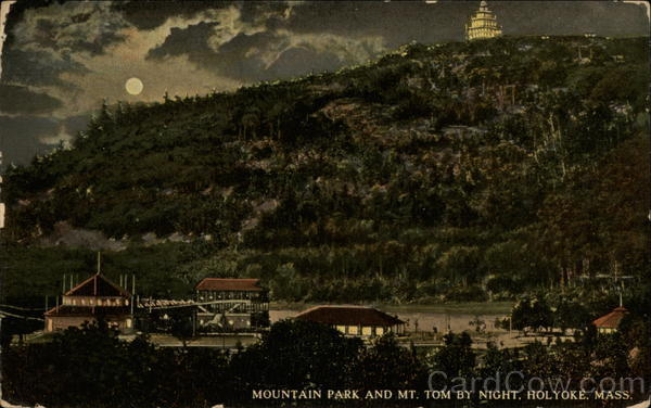 Mountain Park and Mt. Tom by Night Holyoke Massachusetts