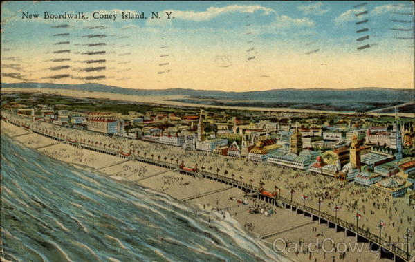 New Boardwalk Coney Island New York