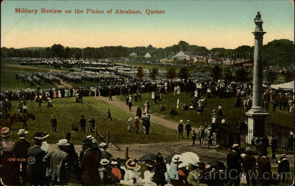 Military Review on the Plains of Abraham Quebec City Canada