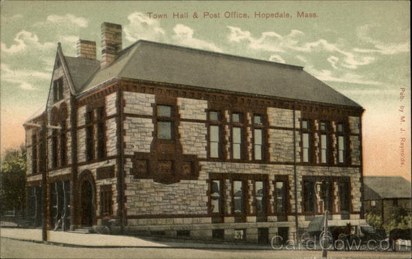 Town Hall & Post Office Hopadale Massachusetts