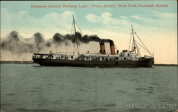 Dominion Atlantic Railway Liner Prince Arthur Boats, Ships
