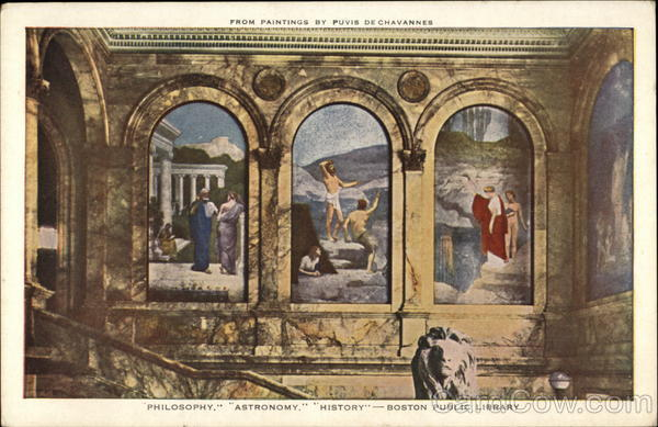 From Paintings by Puvis DeChavannes At Bostom Public Library Boston Massachusetts