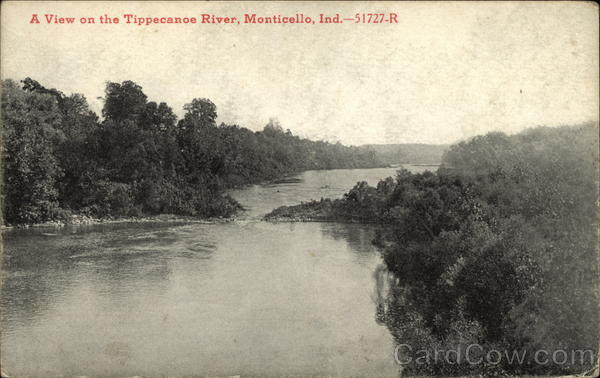 A view on the Tippecanoe River Monticello Indiana