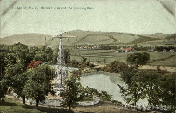 Rorick's Glen and the Chemung River Elmira New York