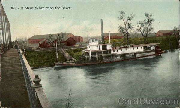 A Stern Wheeler on the River Riverboats