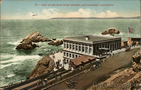 Cliff House from Sutro Heights San Francisco California