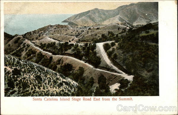 Santa Catalina Island Stage Road East from the Summit California