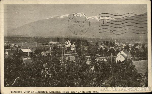 Birdseye View From Roof Of Ravalli Hotel Hamilton Montana