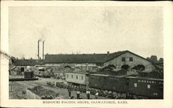 Missouri Pacific Shops Postcard