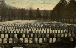 Soldier Graves at Woodlawn Cemetery