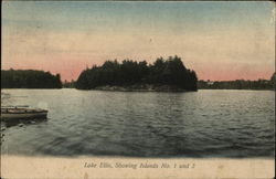 Lake Ellis, Showing Islands No. 1 and 2