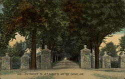 Entrance to St. Mary's Postcard