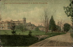 Road view and summer residence, C.A. Stevens
