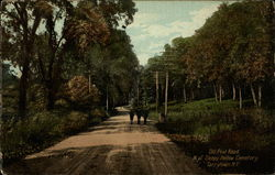 Old Post Road North of Sleepy Hollow Cemetery