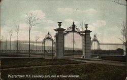 Cemetery Gate at George W. Flower Memorial