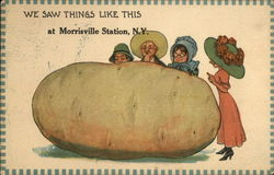 People admiring a huge potato