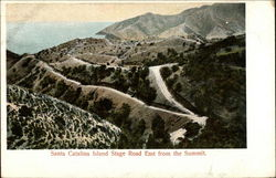 Santa Catalina Island Stage Road East from the Summit