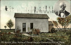 "Home of Daniel Decatur Emmett, Author of ""Dixie"""