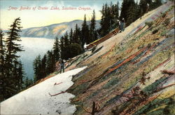 Steep banks of Crater Lake