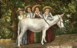 Four Women and a White Donkey