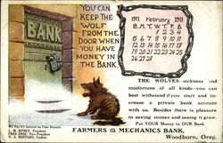 February 1911 Advertising Card