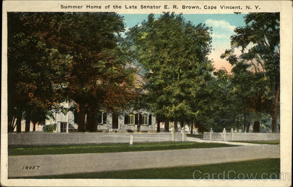 Summer Home of the Late Senator E. R. Brown Cape Vincent New York