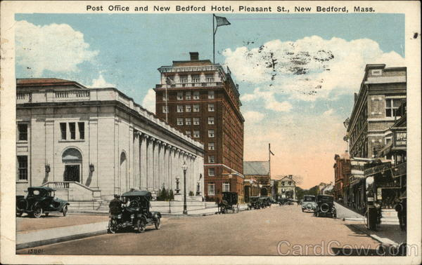 Post Office and New Bedford Hotel, Pleasant St Massachusetts