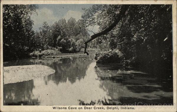 Wilsons Cave on Deer Creek Delphi Indiana